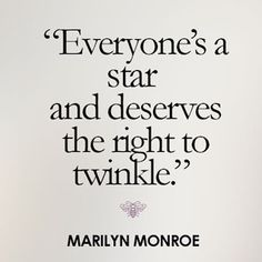 Love this quote by #marilynmonroe   Get twinkly at www.happiesttomato.co.uk