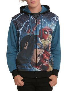 Marvel Avengers Zip-Off Hoodie | Hot Topic