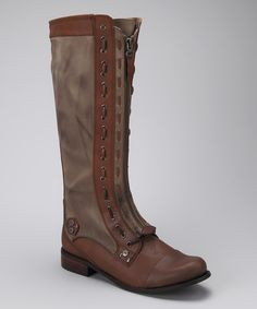 Take a look at this Cognac & Cement Zoe Boot on zulily today!