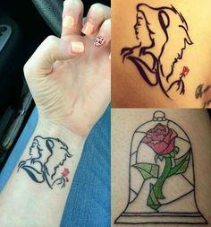 Disney Tattoos - 30 popular motifs that spray spells - Decoration Gram Tattoos Motive, Rose Tattoos, Body Art Tattoos, Tatoos, Tattoo Art, Disney Tattoos Klein, Disney Tattoos Small, Small Tattoos, Tattoo Disney