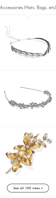 """""""Accessories (Hats, Bags, etc)"""" by btskpopoutfits ❤ liked on Polyvore featuring accessories, hair accessories, swarovski crystal headband, floral garland, flower crown headband, flower garland headband, glitter garland, silver, headband hair accessories and head wrap hair accessories"""