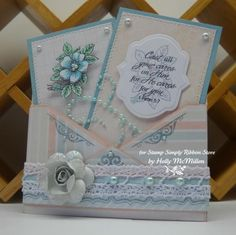 This FAB envelope card was created by Holly for The Stamp Simply Ribbon Store.  Tutorial included.