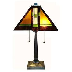 "Warehouse of Tiffany Tiffany Style Mission 23"" Table Lamp"