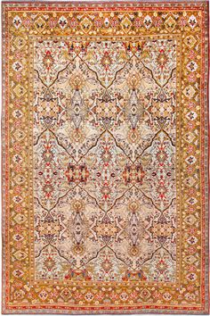 View the world's largest collection of fine antique Kerman rugs and Kirman carpets from Persia by Nazmiyal Collection in New York City. Persian Carpet, Persian Rug, Rugs On Carpet, Carpets, Pintura Exterior, Area Rugs For Sale, Unique Rugs, Cool Rugs, Woven Rug