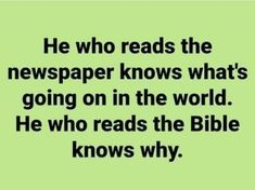 How To Know, Newspaper, Bible, Wisdom, Facts, Maturity, God, Reading, Integrity