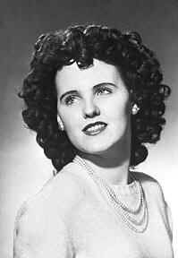 Elizabeth Short (7/29/1924-3/15/1947) an American woman who was the victim of a gruesome and much-publicized murder. Short acquired the moniker by newspapers in the habit of nicknaming crimes they found particularly lurid. Short was mutilated, and her body sliced in half at the waist, on January 15, 1947, in Leimert Park, LA, Ca. Her unsolved murder is the source of widespread speculation. With many suspects. Short's murder is one of the oldest unsolved murder cases in Los Angeles history.