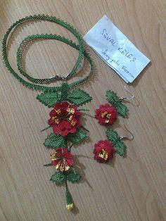 oya necklace, earrings