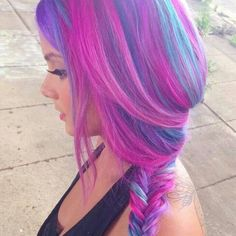 Inspiration on Purple Blue Hair Color Inspiration by Nicole Rios. Check out more Hair on Bellashoot. Purple Hair, Ombre Hair, Purple Ombre, Pastel Hair, Pastel Rainbow Hair, Turquoise Hair, Neon Hair, Purple Tips, Aqua Hair