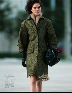 Catherine McNeil by Hans Feurer for Vogue Japan April 2013