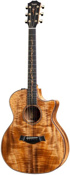 Taylor Koa series K24ce - a very pretty all-koa Grand Auditorium shaped six-string that I'd love to own someday.