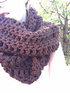 Easy pattern to follow! Super comfy triple or double loop infinity scarf. Uses a combination of triple and single crochet to create the pattern.