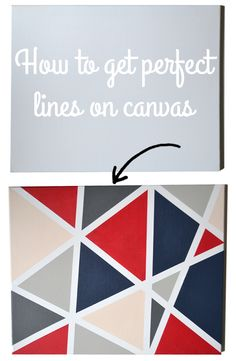 My brother is moving into his very first apartment in a few weeks and I have been commissioned to do a few paintings for his room. He wanted geometric shapes and clean lines in colors that match his comforter set. Instantly I went to work trying to find ideas and came across something from <em class=short_underline> Pinterest </em> that reminded me of one from the computer games The Sims. I am a bit of a nerd and spent countles...