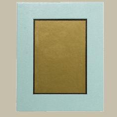 "Caspari Robin's Egg Blue Lizard Picture Frame, 8"" x 10"" outside, 5"" x 7"" interior, $27.50"
