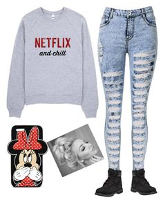 """""""Netflix And Chill ;)"""" by heavensandford on Polyvore featuring Timberland and Forever 21"""