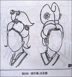 Drawing Sample Of Chinese Hairstyle