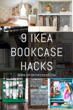 These IKEA bookcase hacks are actually an easy and simple way to decorate your space. Click through for more bookcase inspiration. Eco Furniture, Affordable Furniture, Furniture Projects, Home Projects, Furniture Removal, Furniture Companies, Furniture Stores, Bedroom Hacks, Ikea Bedroom
