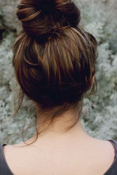 perfectly undone top knot