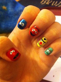 Sesame Street by MonicaJade - Nail Art Gallery nailartgallery.nailsmag.com by Nails Magazine www.nailsmag.com #nailart