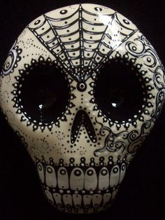 DAY OF THE DEAD SUGAR SKULL SHADOWBOX ART