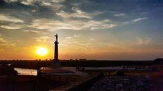 Zalazak sunca u Beogradu. #Kalemegdan
