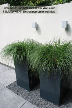 Love the straight lines, but i would not put the planters on gravel/split ... Rember lighting in the garden.