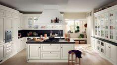 Cucine in legno 2016 - Cucina in legno bianco Scavolini