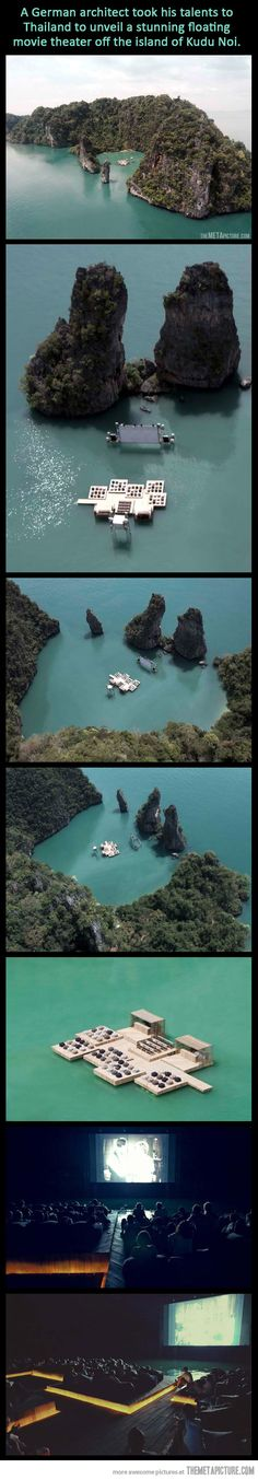 A floating Cinema in Thailand…