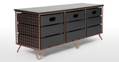 Amph Storage Bench, Copper and Grey | MADE.com
