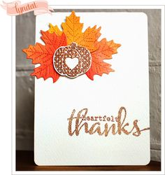 Have you had a chance to check out the amazingly fabulous Winnie and Walter new release - count them 10 new stamp sets, and they have . Pumpkin Cards, Leaf Cards, Thanks Card, Embossed Cards, Thanksgiving Cards, Fall Cards, Masculine Cards, Autumn Inspiration, Yellow Roses