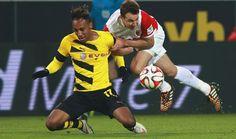 Pierre Emerick Aubameyang Borussia Dortmund vs Augsburg Bundesliga Germany 2015