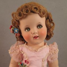 1930s Ideal Cinderella Ginger Composition Doll 18 inch
