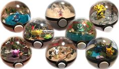 Small Figure Pokemon Terrarium  Choice of by PopCultureChristmaCo