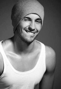 hot guy smile.