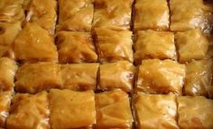 Essentially, Baklava is a pastry made from layers of filo filled with chopped nuts  and soaked through with syrup. It's a honeyed heavyweight - a sticky fingered immoderate indulgence. Just a couple of pieces is more than enough to overwhelm the senses and sate the most voracious of desires.