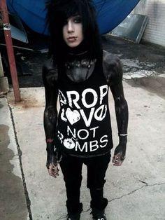 tank top andy biersack bvb black veil brides emo jeans