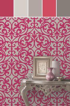 SONATA PINK IRONWORK Designed By Brewster Home Fashions via Stylyze