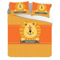 Personalized kid's duvet and shams from Blue Green Planet