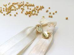 Champagne und Gold. wer mag das nicht? #braclets #elastic #pearls #armbänder #perlen #DPbeanies