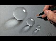 How to draw Realistic drops of water - Multiple ! - YouTube
