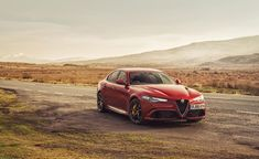 Alfa Romeo Giulia Quadrifoglio balances delicacy and raw performance   The blend of power to handling is supremely well balanced, giving the car a poised, flighty character that rewards gifted drivers, flatters confident ones but could easily imperil over-ambitious boy racers. The paddle-shifters bang up and down through the gears in milliseconds, and there are authentic sounding growls and bangs from the sports exhaust #car #design