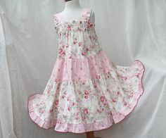 Little Girl's Pink Dress Toddler Easter Dress  by BerryPatchUSA #handmade #cotton #children #clothing