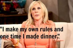Now you can submit your own Alternative Real Housewife tagline! Bikini And Wedges, Housewife Quotes, Millionaire Matchmaker, Vicki Gunvalson, Bravo Tv, One Time, Tv Quotes, Real Housewives, Reality Tv