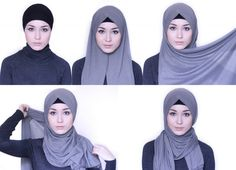 Super how to wear hijab turban watches Ideas Square Hijab Tutorial, Simple Hijab Tutorial, Hijab Style Tutorial, Ootd Hijab, Hijab Chic, Hijab Outfit, Beau Hijab, Hijabs, Hijab Simple