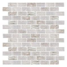 Fossil Rock Glass Stone Stainless Linear Mosaics Products