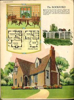 Radford's Home, Fireside and Garden 1926. This booklet show the different types of Arts & Crafts homes availbale in the 1920's as well as trellises, and interior decorations ideas.