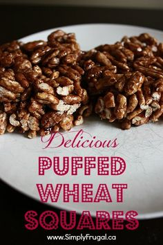 "I wanted to share this Puffed Wheat Squares recipe with you because it was a childhood favourite of mine!  My Mom used to make it for my brother and I fairly often.  While it's next exactly a ""healthy"" treat, it is a delicious one! They are similar to..."
