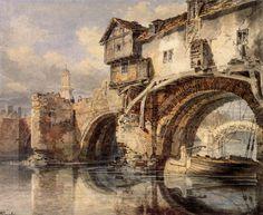 Welsh Bridge at Shrewsbury - Joseph Mallord William Turner  19th century