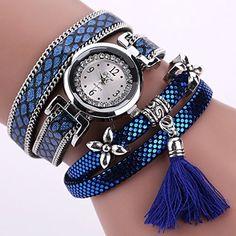 La Cabina Femme Fille Chic Montre Bracelet en PU Cuir Pailleté avec Frange Montre pour Robe Soirée Cocktail (Bleu) 2017 #2017, #Montresbracelet http://montre-luxe-femme.fr/la-cabina-femme-fille-chic-montre-bracelet-en-pu-cuir-paillete-avec-frange-montre-pour-robe-soiree-cocktail-bleu-2017/