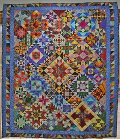 Here is the quilt all made up with Australian fabric.