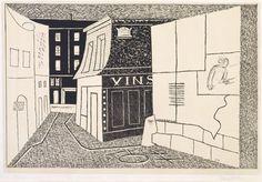 Stuart Davis (1892-1964) Rue de Rats, 1928-1929 Lithograph on Stone Courtesy of private collection